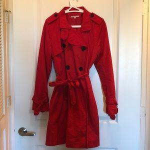 Gap : Poppy red trench coat